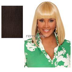 Vivica Fox Weave Cap Collection Tamara - Color 4 - Synthetic (Curling Iron Safe) Half Wig