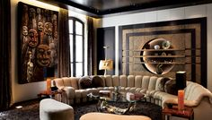 Art dealer Victor Gastou furnishes a 19th-cenutry property with modern decorative art. (=)