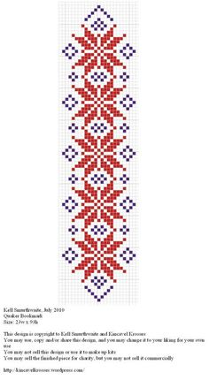 Design: Quaker Bookmark Size: x Designer: Kell Smurthwaite, Kincavel Krosses Permissions: This design is copyright to Kell Smurthwaite and Kincavel KroPosts about Bookmarks written by Lady Kell of KincavelQuilt look loom pattern Cross Stitch Bookmarks, Cross Stitch Books, Cross Stitch Borders, Cross Stitch Designs, Cross Stitching, Cross Stitch Patterns, Folk Embroidery, Cross Stitch Embroidery, Embroidery Patterns