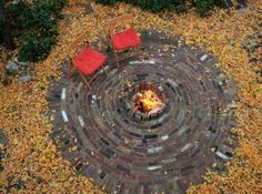 glorieta con pozo de fuego