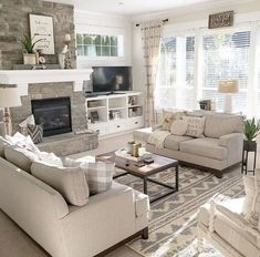Stylish 40 Pretty Living Room Remodel Ideas To Try Asap Living Room Remodel, Living Room Sofa, Apartment Living, Living Room Decor, Basement Apartment, Cozy Apartment, Living Rooms, Bedroom Decor, Small Living Room Design