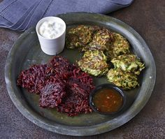 Garlic, Cumin & Beetroot Fritters Recipe | from Garlic: The Mighty Bulb cookbook | House & Home