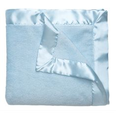 Blue Microfiber Baby Blanket | Monogrammed Baby Blankets | Liz and Roo Fine Baby Bedding. Add monogramming for a personalized gift!