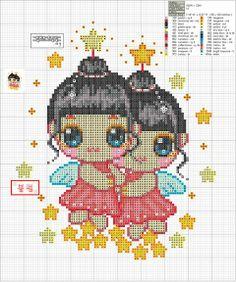 Zodiac Baby Gemini Cross Stitch Pattern 2/2