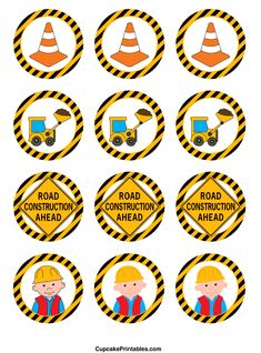 http://cupcakeprintables.com/toppers/construction-cupcake-toppers/