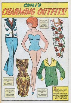 Chili's Charming Outfits paperdolls