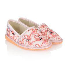 8f3d9a06a24ff Sophia Webster Mini Flamingo Print Espadrilles