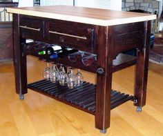 $550 - Made locally in Frankfort, Ky each Table has built in wine storage and is handcrafted and uniquely designed for you. This piece would be great for any occasion. Call us today for availability 502-223-8544