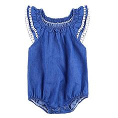 be95bf9e669 BABY BALL Children Newborn Baby Girl Bodysuit One-piece Denim Kids Clothes  Jeans Cute Tassel Summer Outfit Sunsuit Jumpsuit