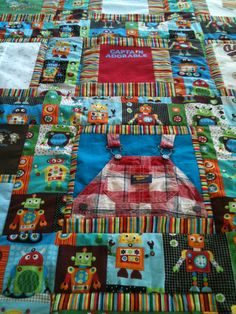 Baby clothes quilt!
