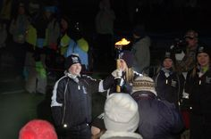 Passing the torch to Olympic Medalist Jennifer Heil from Spruce Grove