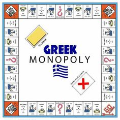 """ I see Hasbro have brought out a new Greek version of the classic board game Monopoly. Learn Greek, Go Greek, Greek Life, Greek Memes, Funny Greek, Tragic Comedy, Greece Pictures, Greek Flag, Greek Culture"
