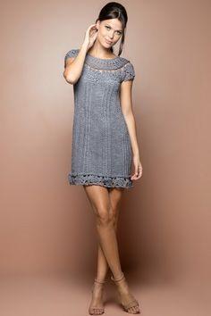 Black Martini Crochet Dress - Vanessa Montoro USA - vanessamontorolojausa