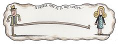 matthimat: First step is the hardest one. from Macanudo by Liniers My Wish For You, Just For Fun, Just Go, Mon Cheri, Satirical Cartoons, Walking On A Dream, Sarah Andersen, Forbidden Love, Humor Grafico