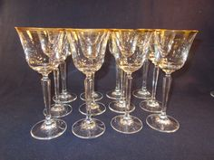 Mikasa Wheaton Crystal 16 Stems by TabletopTreasure on Etsy, $176.00