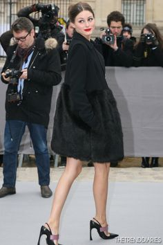 Olivia Palermo at the Christian Dior Fall/Winter 2013 Ready-to-Wear Fashion Show as part of Paris Fashion Week in Paris, France - March 1, 2013