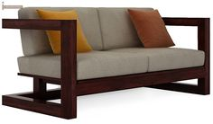 Skyler Woodan Sofa Sets (Mahogany Finish)-1