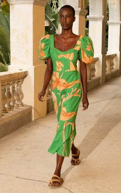 Culture Cotton Midi Dress By Johanna Ortiz | Moda Operandi Tiered Dress, Daily Fashion, Organic Cotton, Wrap Dress, Fashion Photography, Short Sleeves, Spring Summer, Culture, Style Inspiration