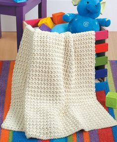 NEW LA75467 Blankets For Toddlers - Play Mat Each of the 12 designs in Blankets for Toddlers is rated Beginner or Easy skill level and uses a simple one-row pattern repeat. The instructions also give you a choice of using one or two strands of medium weight yarn, so you can make a lightweight blanket or a heavier one.  http://www.maggiescrochet.com/products/blankets-for-toddlers