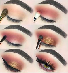 MAKEUP Makeup Maquillage marron doré What Happens During Your Wedding Reception Normally, a wedding Peach Eye Makeup, Makeup Eye Looks, Eye Makeup Steps, Brown Makeup, Natural Eye Makeup, Cute Makeup, Gorgeous Makeup, Skin Makeup, Eyeshadow Makeup