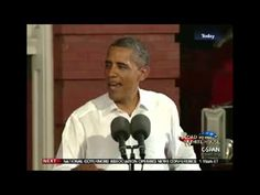 """You Didn't Build That"" from Let Freedom Ring USA opposes Obama. 10/24/12"