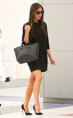 Posh Landing from Celebrity Street Style Clearly the chicest traveler ever, Victoria Beckham makes her way through JFK airport.