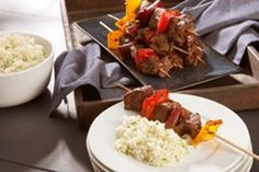 Grilled Beef & Pepper Kabobs