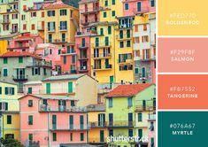 101 Color Combinations to Inspire Your Next Design – Italian Dwellings Color Palette Colour Pallette, Colour Schemes, Color Trends, Color Combinations, Couleur Hexadecimal, Kaleidoscope Images, Patio Images, Italian Colors, Luminous Colours