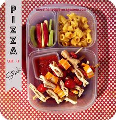 More than your average mom: Pizza on a stick bento lunch (and DIY pizza ideas linky!)