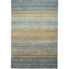 Pier 1 Imports Graduated Striped Coastal 9x12 Rug ($800) ❤ liked on Polyvore featuring home, rugs, blue, hand woven rugs, stripe area rug, blue striped area rug, blue stripe rug and coastal themed area rugs