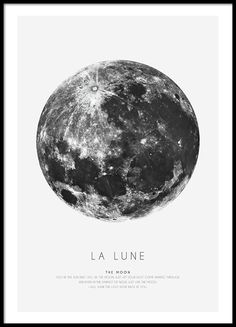 Stylish poster with the moon, shop online.