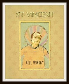 ♥ Print of Bill Murray as St. Vincent Art Print 8 x 10  ♥ Here at the Beacon Print Shop I try to offer you an eclectic mix of fun, affordable