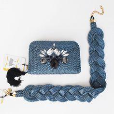 ● Bolso & cinturón de cordón de seda   Modelo Valérie   Diseño de OLVIDO MADRID  www.olvidomadrid.es