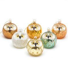 mackenzie childs regal owl christmas ornament glass christmas ornaments pinterest christmas ornament owl and ornament
