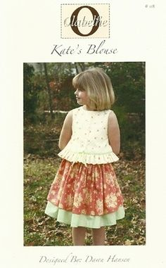 Kate's blouse pattern for girls by Olabelhe.  Available at www.chadwickheirlooms.com