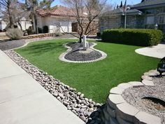 Luxury Garden Ideas with Grass at AtHouse Lawn And Landscape, House Landscape, Landscape Design, Front House Landscaping, Landscaping Tools, Garden Ideas Rectangle, Low Maintenance Garden Design, Synthetic Lawn, Hot Tub Backyard