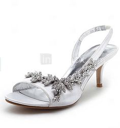 aadc971eb81 2014 Designer SAMRITA Brand Wholesale Royal Ivory Kitten Heel Rhinestone  Strappy Sandals Prom Wedding Bridal Shoes-in Women s Sandals from Shoes on  ...