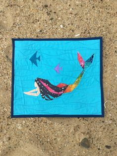 She's a Fish Mini Quilt from Quarter Inch of Quirk - GnomeAngel