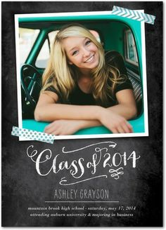 """Chalk Scrapbook"" Graduation Announcements - Stacey Day [@stacey day] exclusively at Tiny Prints"