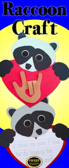 Cute raccoon activity - love this for the beginning of school!  Students can make mini Chesters and display them on The Kissing Hand bulletin board!