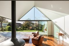 Inside/outside at House Of Four Houses, Penafiel, Portugal by PROD