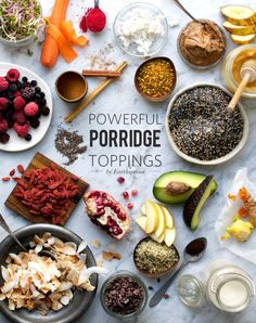 The Powerful Porridge Mix + Redefining Breakfast 3 Ways (Energy, Boost & Sweet Bowls!) at www.Earthsprout.com