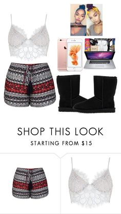 """Lazy Sunday -Glo Queen"" by thegloup-reina on Polyvore featuring Ally Fashion, For Love & Lemons and UGG Australia"