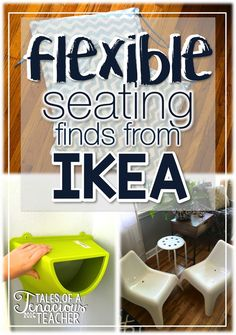 Flexible Seating Finds at Ikea - Tales of a Tenacious Teacher Classroom Hacks, Classroom Layout, High School Classroom, Classroom Organisation, New Classroom, Classroom Design, Classroom Management, Classroom Seats, Classroom Decor