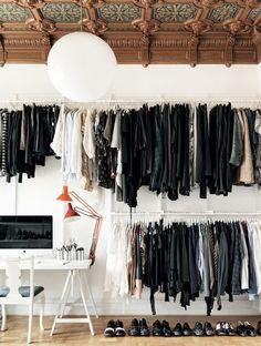 Modern approach to a closet.