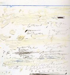 blue-voids:  Cy Twombly - Poems to the Sea, 1959