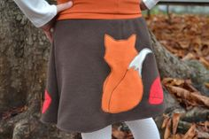 Girl fall applique skirt kids fall fox skirt fall by BarvitoPosito