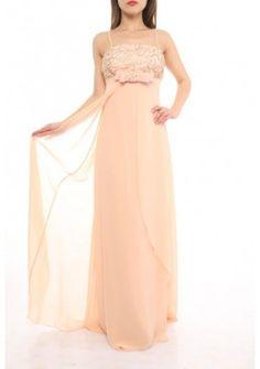 Empire Abendkleid Sophie Creme