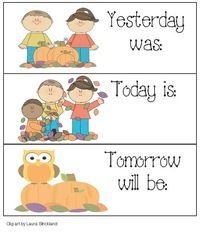 Yesterday, Today, Tomorrow Calendar Cards