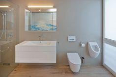 Bathroom Contemporary Home - A HI MACS by Matthias Werlen Architektur